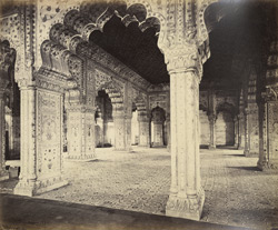 Interior of Palace, Delhi, Punjab [sic. Diwan-i Khas or Hall of Private Audience, Red Fort, Delhi]